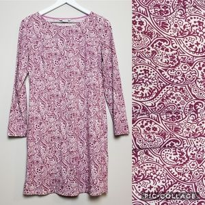 Boden Paisley Cleo Long Sleeve Jersey Tunic